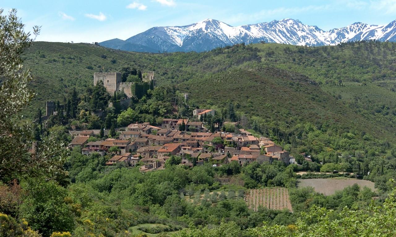Utsikt på vei til Castelnou